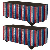 Patriotic Tinsel Table Skirt, 2 pk.