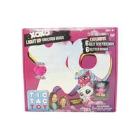 Tic Tac Toy XOXO Light Up Unicorn Hugs & Glitter Friends