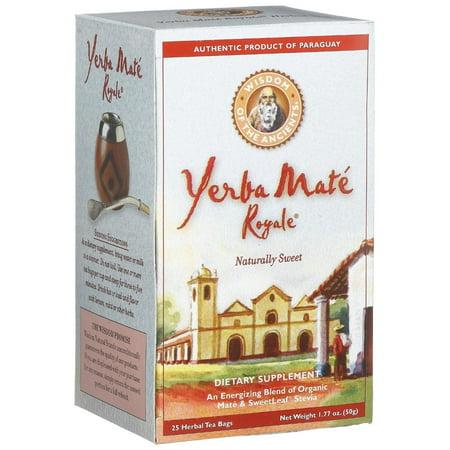 Sagesse Yerba Maté Bio Naturel Royale Naturellement Doux - 25 sachets de thé