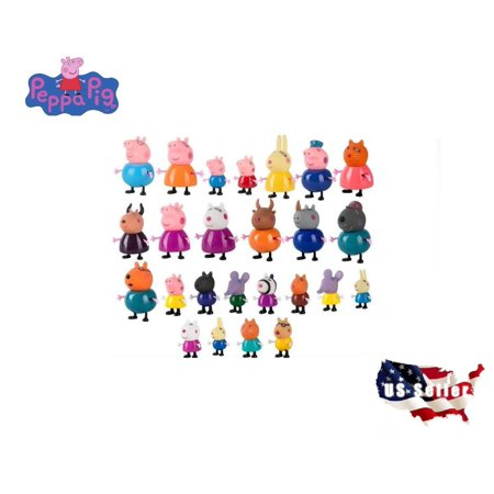 - PEPPA PIG MINI FIGURE PACK PLAYSET CUTE TOY COLLECTION - 4PC 10PC 21PC 25PC SET