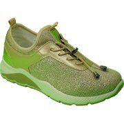 Republic | Women's Lightweight, Gold Elastic Laces Sneaker, Chunky Sole, Size 8.5