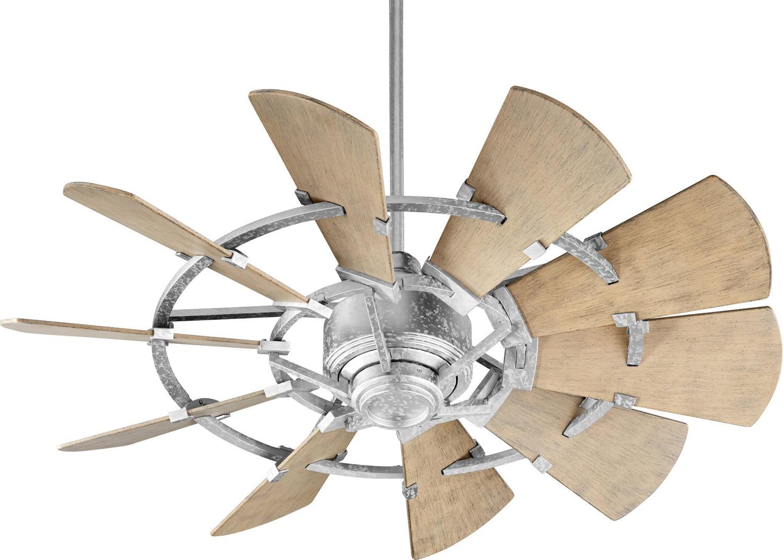 Quorum 194410-9 44``Patio Fan Windmill Galvanized by Quorum