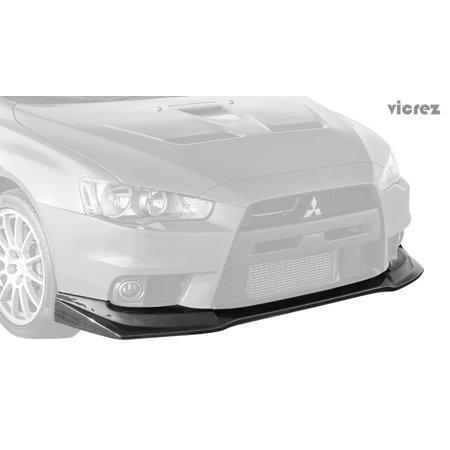 Vicrez Mitsubishi Lancer Evolution Evo 10 X  2008-2015 VZEX Style Carbon Fiber Front Lip  - (Evolution Carbon Fiber)