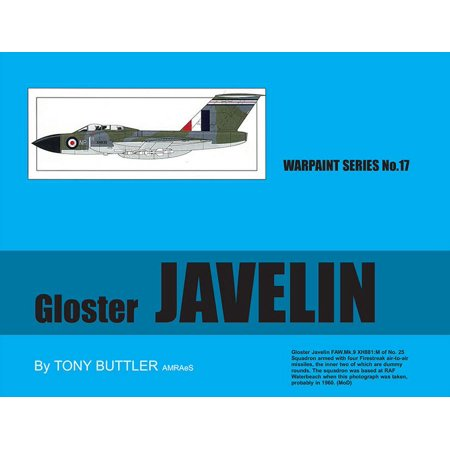 Warpaint Series No 17 Gloster Javelin By Tony Buttler Reference Book  Wpt017
