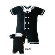 Infant Baby Little Navy Sailor Black Creeper 6-9M