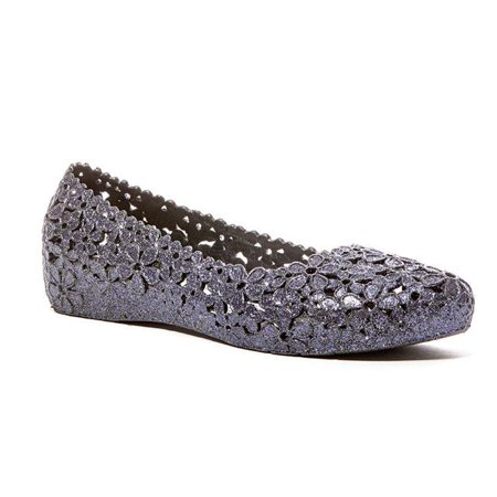 Lady Couture PETAL-INDG-36 1 in. Hidden Heel Flower Cut Jelly Shoes, Indigo - Size 36