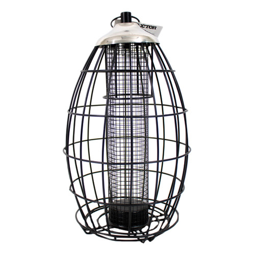 Squirrel Resistant Durable Steel Wild Birdfeeder with 2lbs seed capacity by Birdfeeders