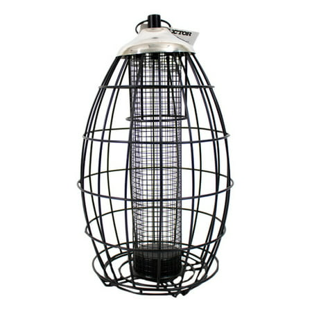 Squirrel Resistant Durable Steel Wild Bird Feeder with 2lbs seed capacity