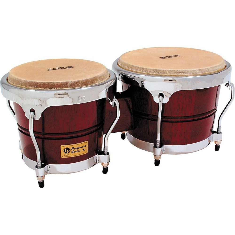 LP Performer Series Bongos with Chrome Hardware Dark Wood by LP