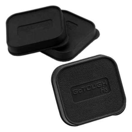 Fotodiox Pro GoTough 3x Replacement Housing Caps for the HERO3/3+ Standard Housing - Set of 3 GoTough Protective Lens Covers for the HERO3/3+ Standard Case (Will NOT fit the HERO3+ Slim Skeleton Case)