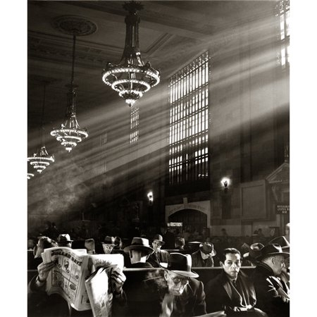 Zatista Limited Edition New York Grand Central Station Waiting Room By Norman Lerner Photographic Print
