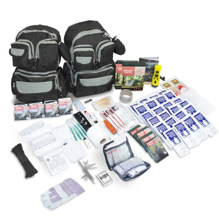 emergency zone  urban survival bug-out bag - 4 person, 72 hours, family emergency survival kit