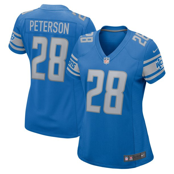Adrian Peterson Detroit Lions Nike Women's Game Jersey - Blue