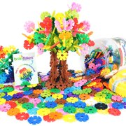 VIAHART Brain Flakes 500 Piece Interlocking Plastic Disc Set   A Creative and Educational Alternative to Building Blocks   Tested for Children's Safety   A Great STEM Toy for Both Boys and Girls!