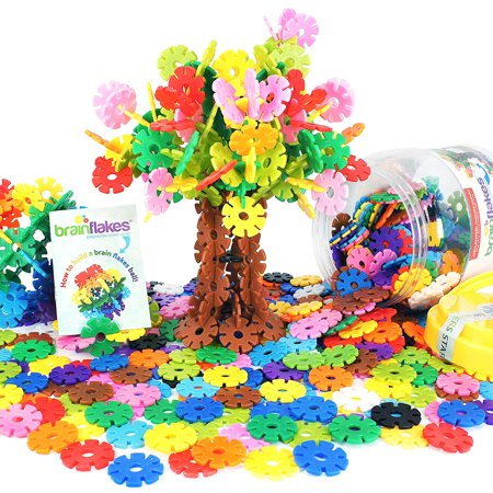 VIAHART Brain Flakes 500 Piece Interlocking Plastic Disc Set | A Creative and Educational Alternative to Building Blocks | Tested for Children's Safety | A Great STEM Toy for Both Boys and