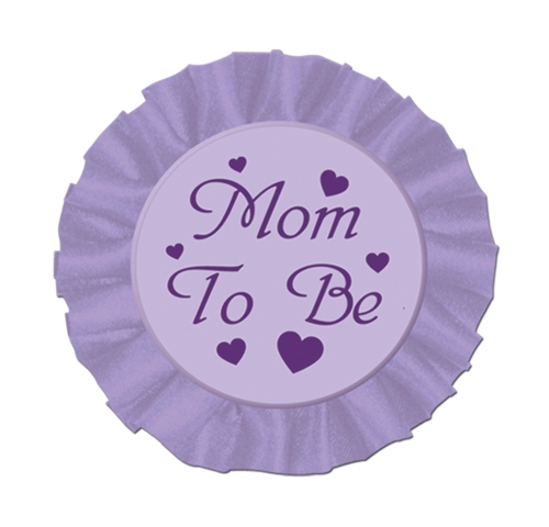 Mom To Be Satin Button Party Accessory (1 count) (1/Pkg)
