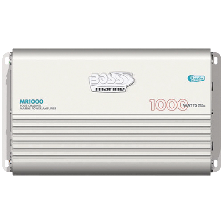 BOSS Audio MR1000 1000W 4-Channel Marine Amplifier