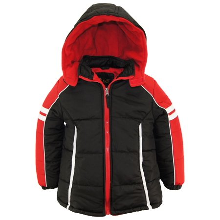 iXtreme Toddler Boys Colorblock Active Hooded Winter Puffer Jacket Coat size 2T