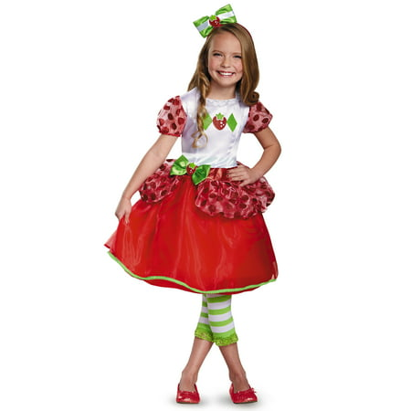 Strawberry Shortcake Deluxe Toddler Halloween Costume, 3T-4T