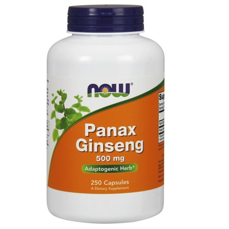 NOW Foods Panax Ginseng 500 mg 250 Capsules