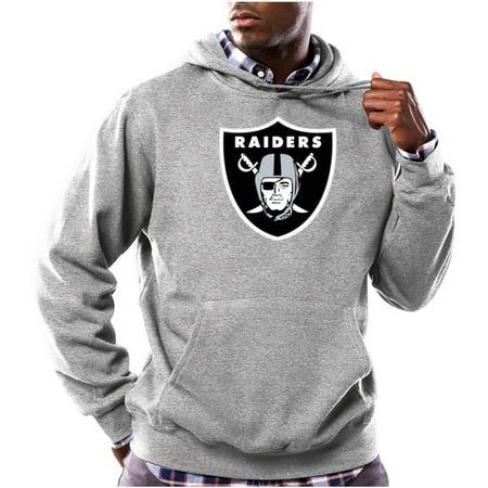 NFL Mens Oakland Raiders Tek Patch Fleece Hoodie by