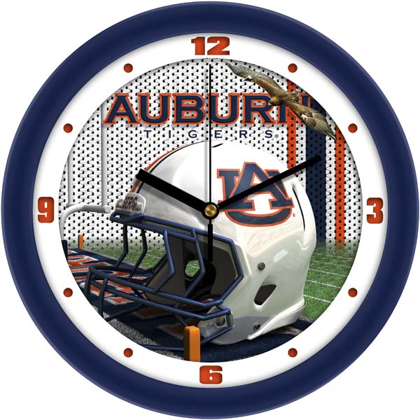 Auburn Helmet Wall Clock