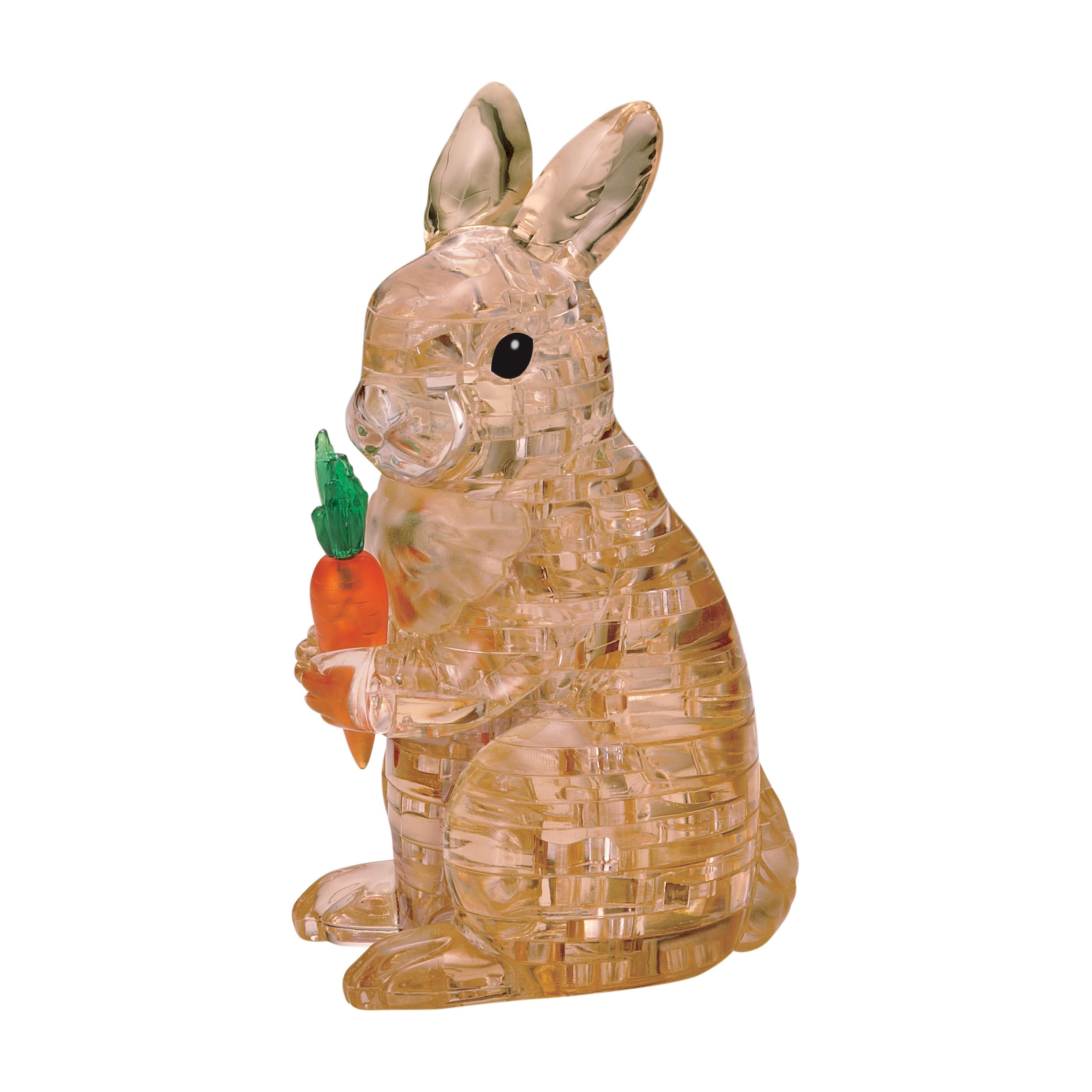 3D Crystal Puzzle - Rabbit, 43 Pcs