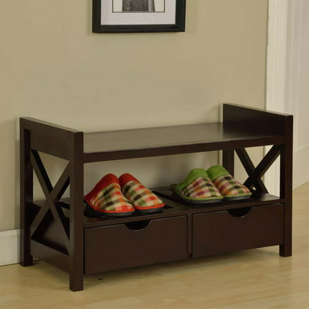 K and B Furniture Crossway Entryway Bench ()