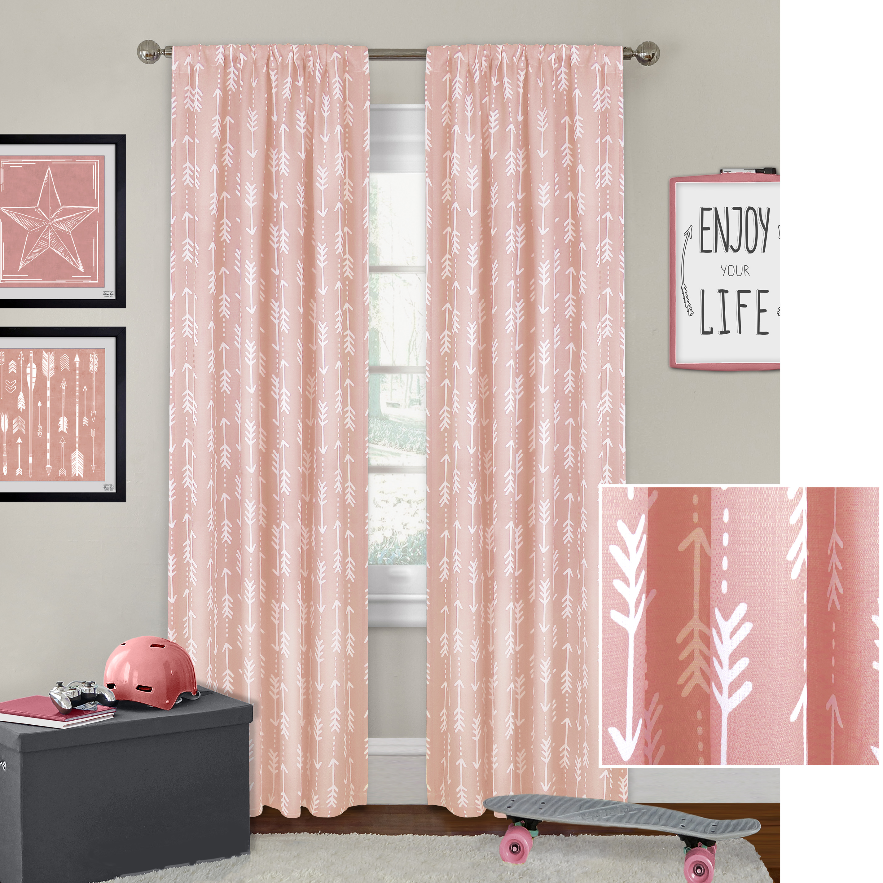 Better Homes & Gardens Arrows Curtain Panel