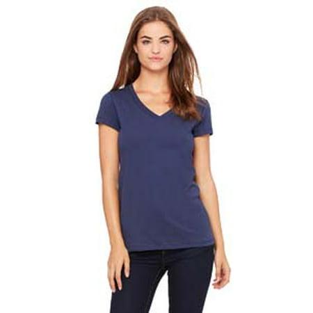 Bella + Canvas Ladies' Jersey Short-Sleeve V-Neck