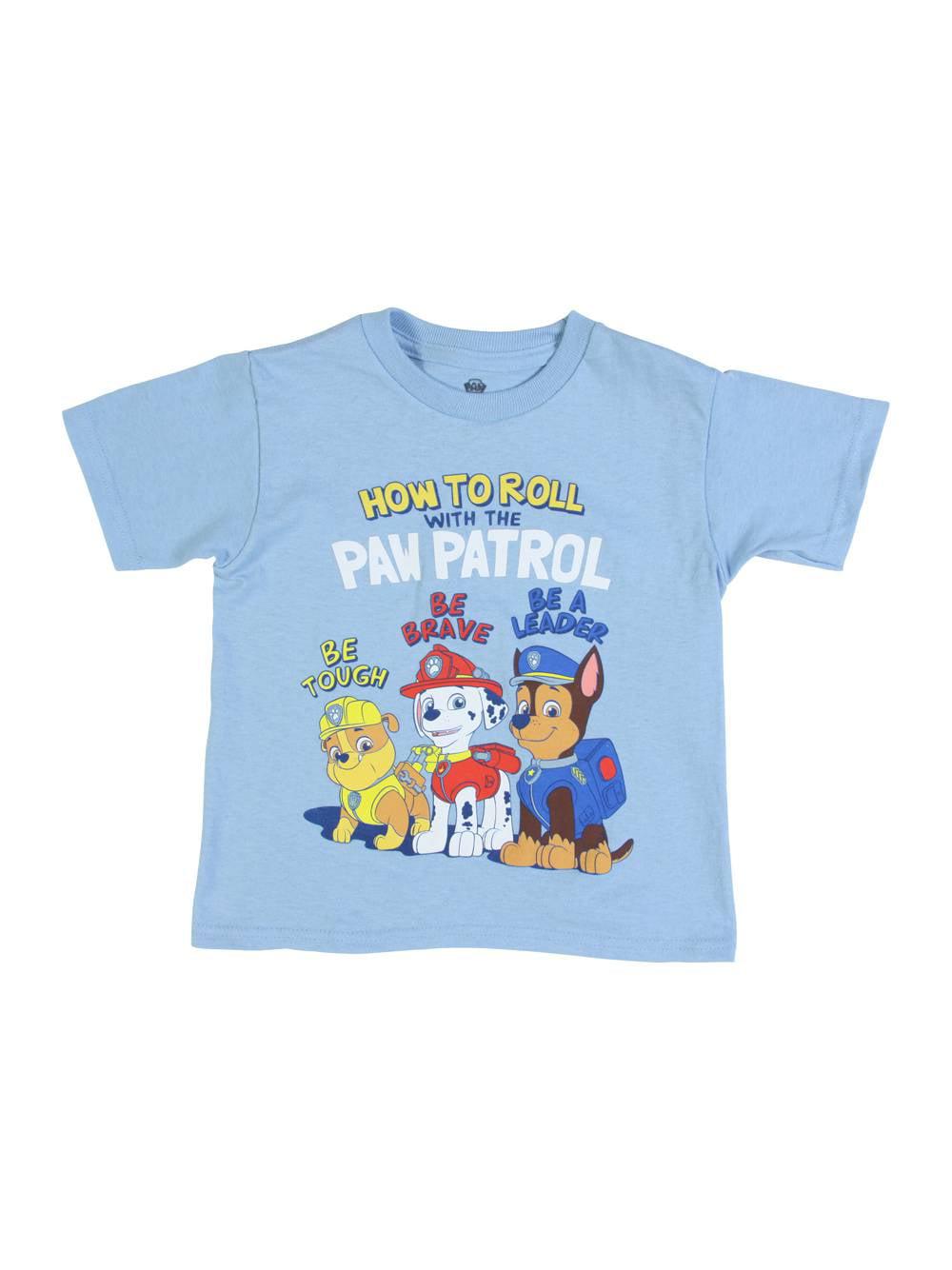 Paw Patrol Toddler Short Sleeve T-Shirt, Sky Blue