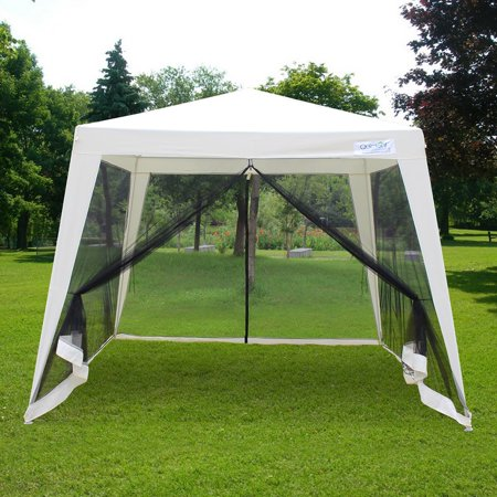 Quictent Outdoor Canopy Gazebo Party Wedding tent Screen House Sun Shade Shelter with Fully Enclosed Mesh Side Wall (10
