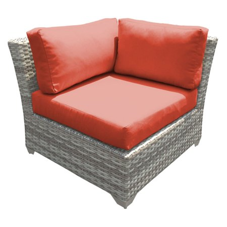 TK Classics Outdoor Wicker Corner Sofa Sectional Piece