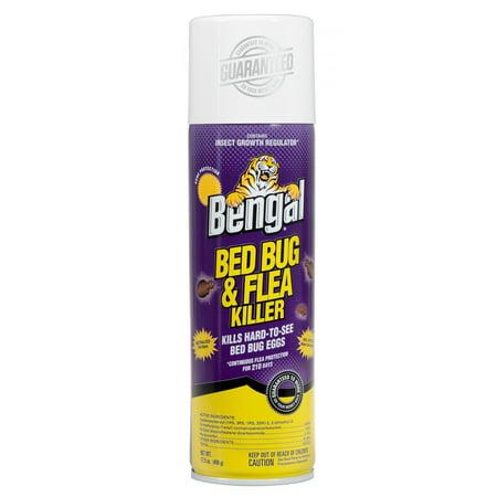 Bengal Bed Bug & Flea Killer, Flea and Bed Bug Treatment, 17.5 Oz. Aerosol Can