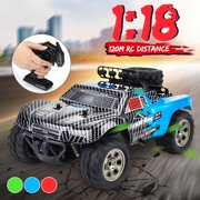 1:18 100M Remote Control 55KM/H RC Car Monster Truck Buggy Rock Crawlers High Speed Off-Road Vehicle Powerful Motor Kids Gift Toy