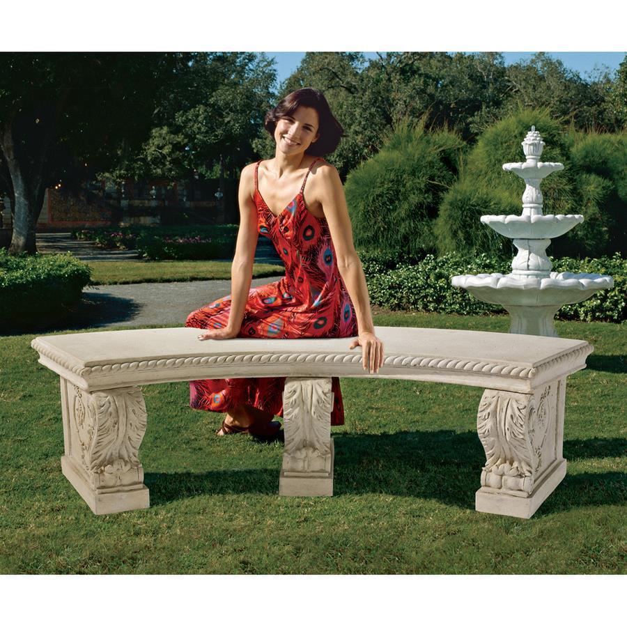 The Salentino Crescent Garden Bench