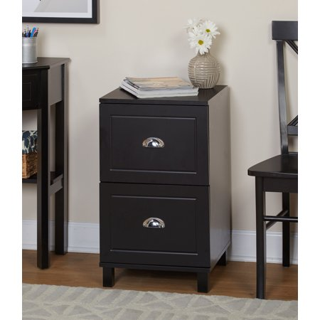 Bradley 2 Drawer Vertical Wood Filing Cabinet Black