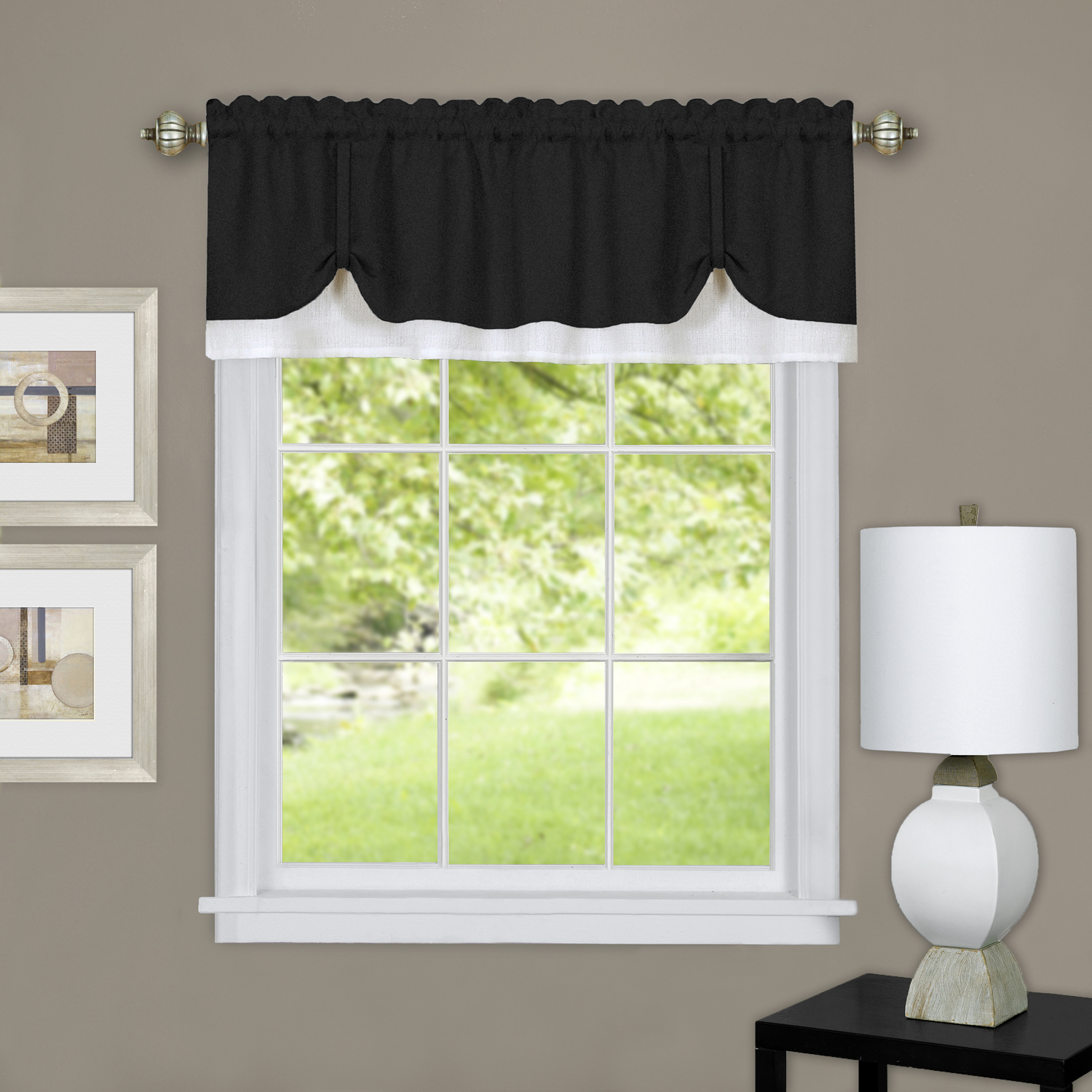 Achim Darcy Window Curtain Valance 58x14