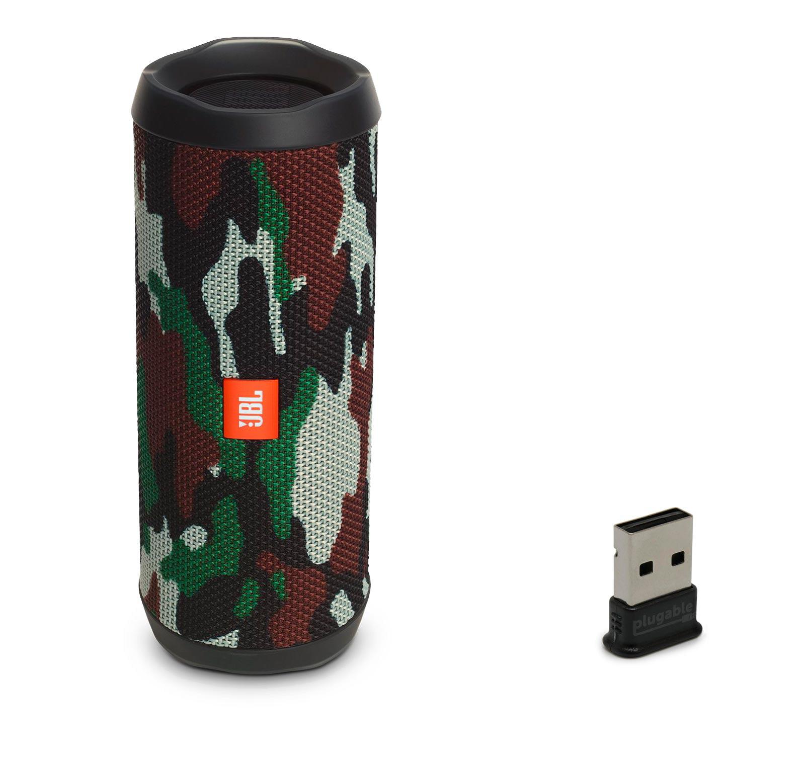JBL FLIP 4 Camo Bluetooth Speaker & Bluetooth USB Adapter