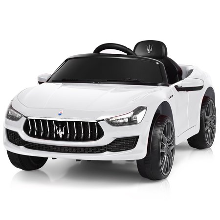 Gymax 12V Maserati Licensed Kids Ride on Car w/ RC Remote Control Led Lights MP3 - Cheap Kid Toys