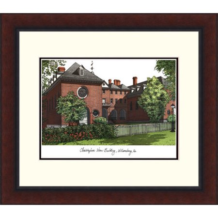College of William and Mary Campus Legacy Alumnus Framed (College Lithograph)