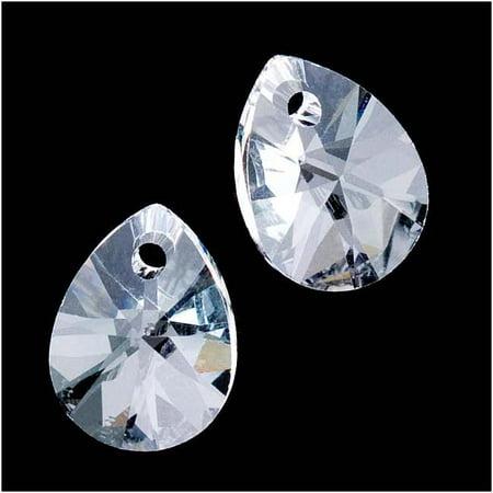 Swarovski Crystal, #6128 Mini Pear Pendants 10mm, 6 Pieces, - 6 School House Mini Pendant
