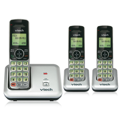 Vtech CS6419-3 Cordless Phone with 3 Handsets and Hearing Aid Compatible