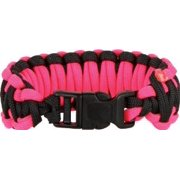Knotty Boys 119 8 Diameter Medium Black & Hot Pink Fat Boy Style Survival Bracelet with Hand Tied N Multi-Colored