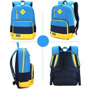 Kids Backpack for Elementary or Middle School Boys and Girls (Blue with Reflector)
