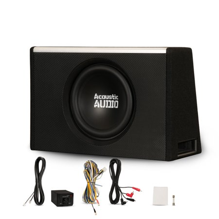 Acoustic Audio Aca10w Powered Amplified 10 Car Ported Subwoofer 800