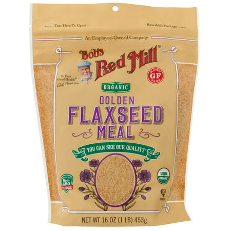 Bob's Red Mill, Organic Golden Flaxseed Meal, 16 oz (pack of 3)
