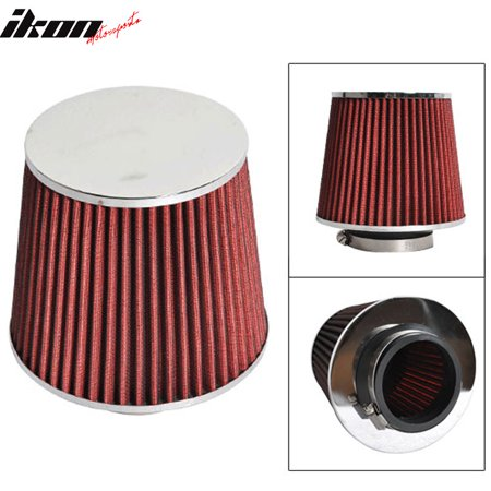 Compatible with 3 Inch Race PerCompatible withmance Cold Air Intake Cone Filter Red 88-01 Integra ()