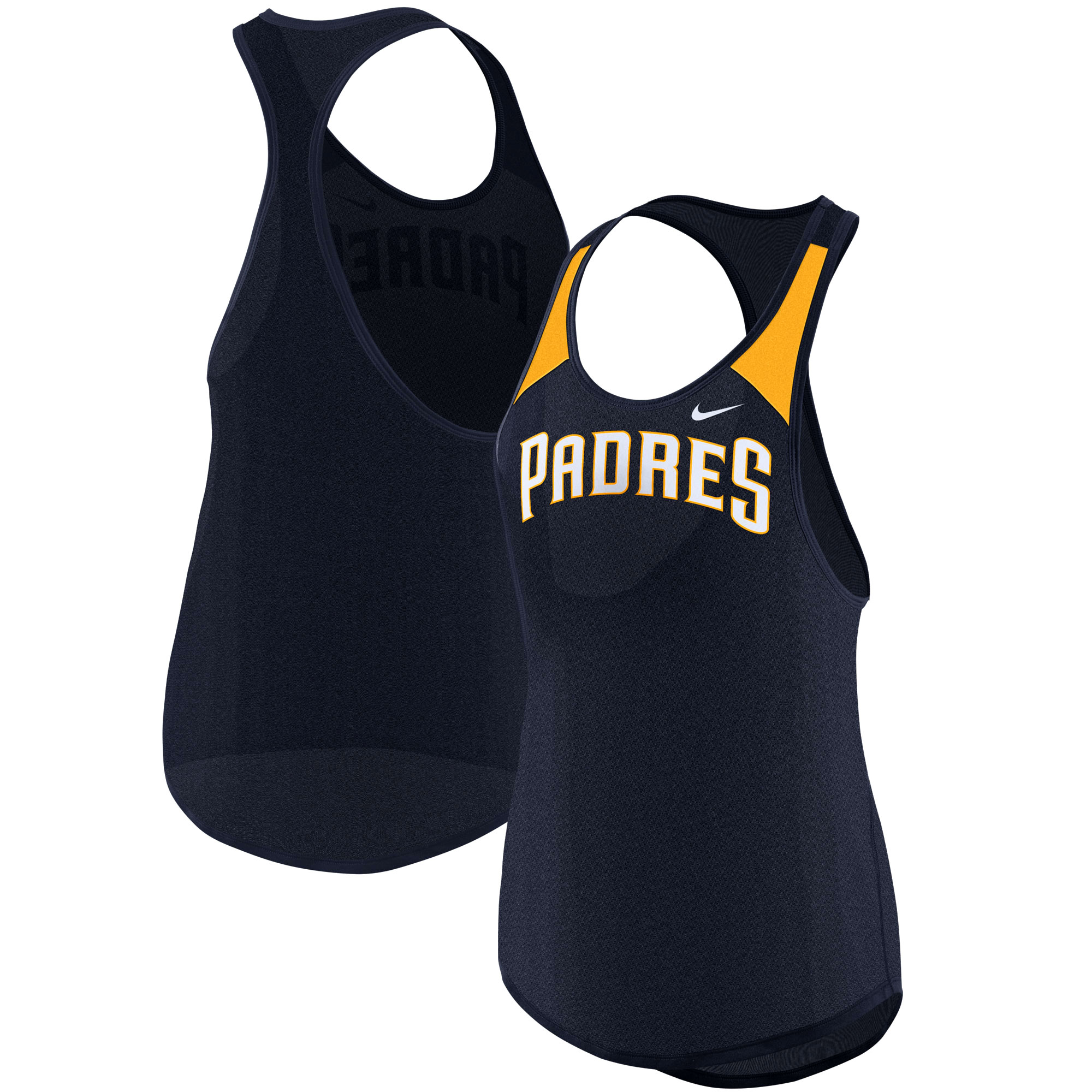 San Diego Padres Nike Women's Wordmark Legend Tank Top - Navy