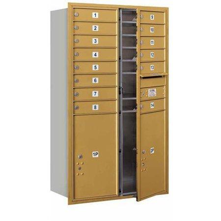 Salsbury Industries 4C Horizontal Mailbox 14 Door High Unit 51 5 Doub